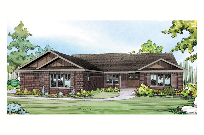 Ranch Exterior - Front Elevation Plan #124-900 - Houseplans.com