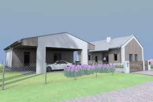 Modern Exterior - Front Elevation Plan #549-27