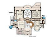Mediterranean Style House Plan - 4 Beds 7 Baths 10662 Sq/Ft Plan #27-473 Floor Plan - Upper Floor