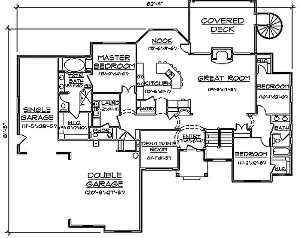Bungalow Floor Plan - Main Floor Plan Plan #5-281