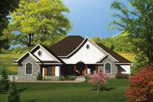Dream House Plan - Ranch Exterior - Front Elevation Plan #70-1101