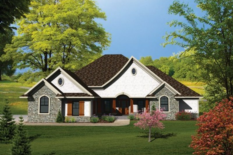 Ranch Exterior - Front Elevation Plan #70-1101