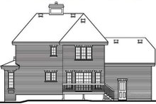 European Exterior - Rear Elevation Plan #23-2086