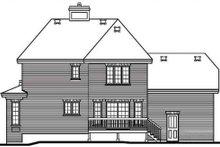 Home Plan - European Exterior - Rear Elevation Plan #23-2086