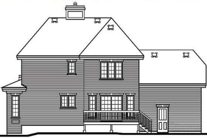 European Exterior - Rear Elevation Plan #23-2086 - Houseplans.com