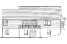 Country Exterior - Rear Elevation Plan #46-411