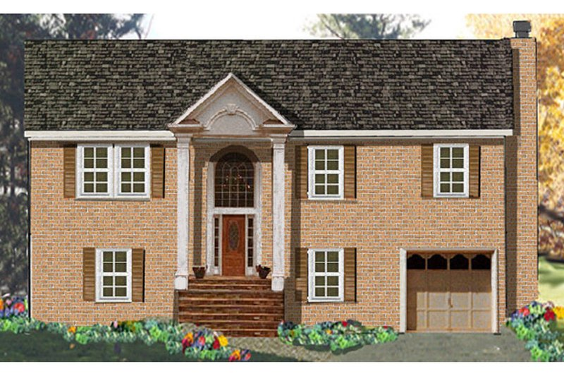 Home Plan Design - Colonial Exterior - Front Elevation Plan #3-260