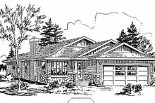 Traditional Exterior - Front Elevation Plan #18-1033