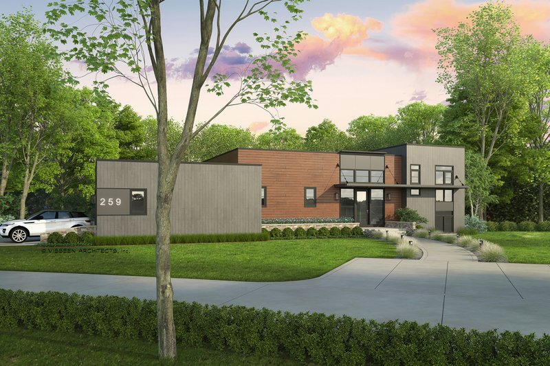 Architectural House Design - Contemporary Exterior - Front Elevation Plan #928-343