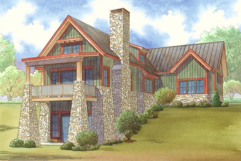 Craftsman Exterior - Rear Elevation Plan #923-23 - Houseplans.com