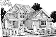 Home Plan Design - Traditional Exterior - Front Elevation Plan #20-1359