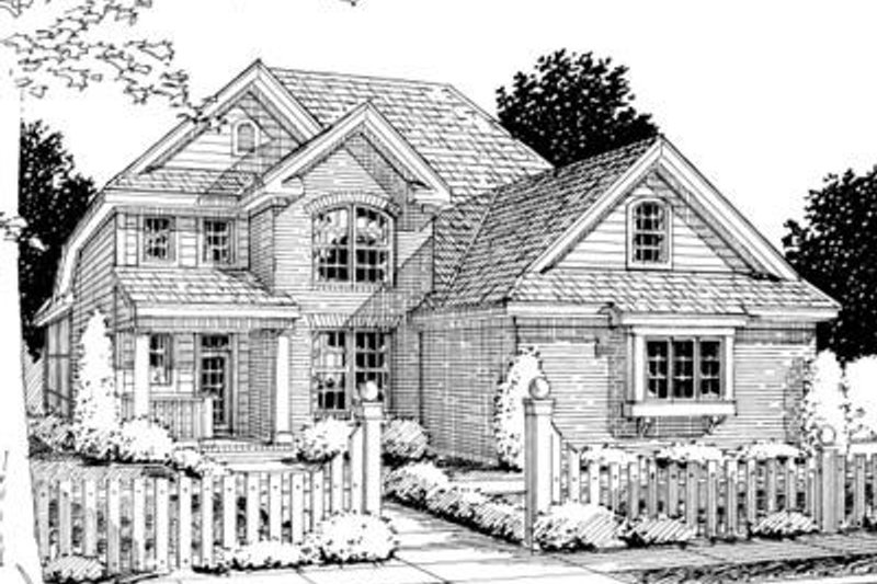 Home Plan - Traditional Exterior - Front Elevation Plan #20-1359
