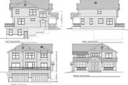 Craftsman Style House Plan - 5 Beds 3 Baths 2615 Sq/Ft Plan #100-437 Exterior - Rear Elevation