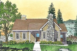 Cottage Exterior - Front Elevation Plan #22-592