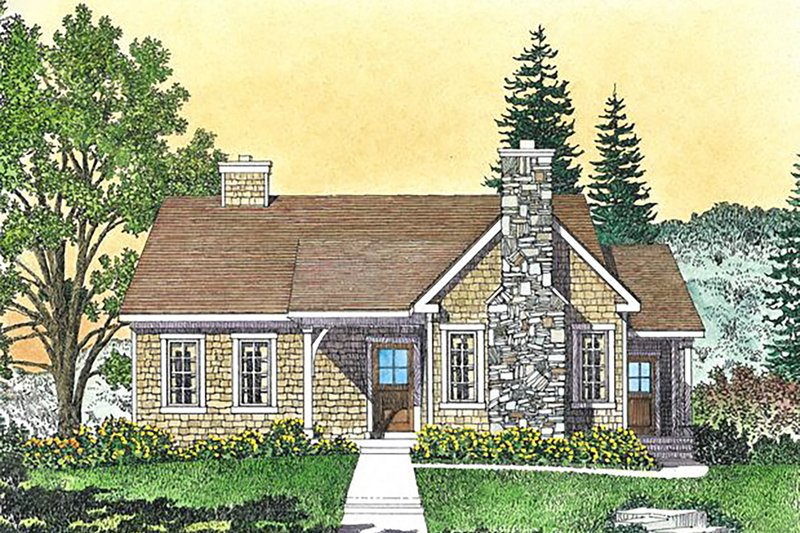 House Design - Cottage Exterior - Front Elevation Plan #22-592