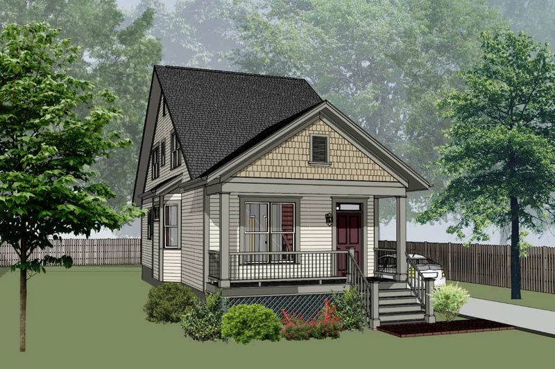Cottage Style House Plan - 3 Beds 2 Baths 1340 Sq/Ft Plan #79-176 Exterior - Front Elevation