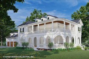 Classical Exterior - Front Elevation Plan #930-526