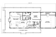 Traditional Style House Plan - 3 Beds 2.5 Baths 1860 Sq/Ft Plan #17-1163 Floor Plan - Main Floor Plan