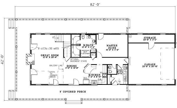 Traditional Floor Plan - Main Floor Plan Plan #17-1163
