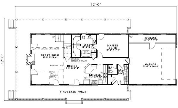 Traditional Floor Plan - Main Floor Plan #17-1163