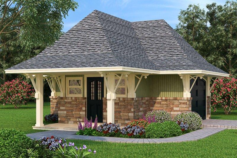 Architectural House Design - Craftsman Exterior - Front Elevation Plan #45-441