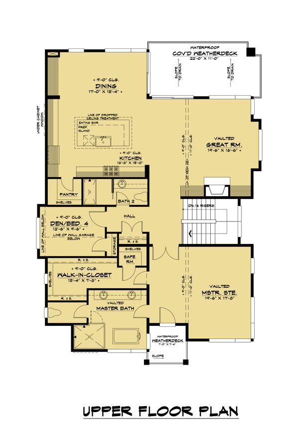 Architectural House Design - Contemporary Floor Plan - Upper Floor Plan #1066-126