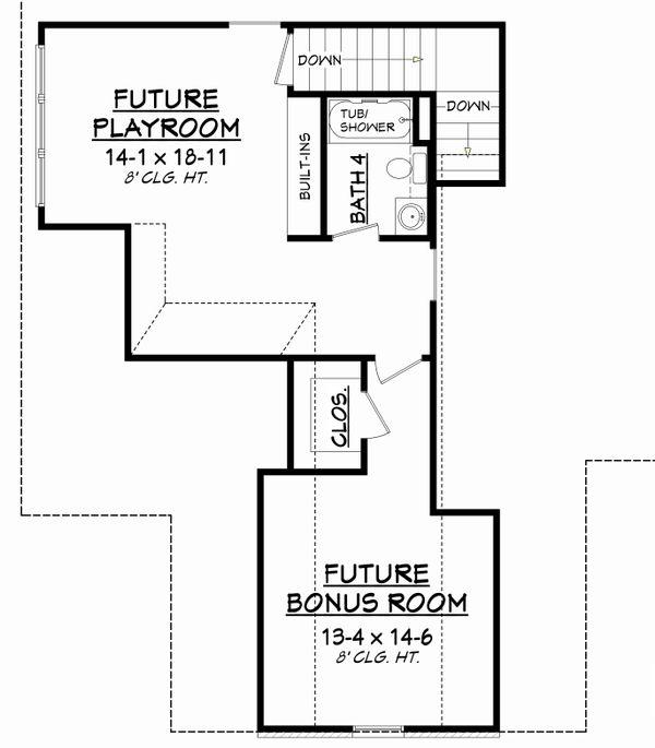 Traditional Floor Plan - Upper Floor Plan Plan #430-127