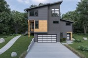 Contemporary Style House Plan - 3 Beds 3.5 Baths 1973 Sq/Ft Plan #1070-62 Exterior - Other Elevation