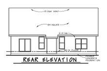 Dream House Plan - Farmhouse Exterior - Rear Elevation Plan #20-2462