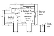 Country Style House Plan - 3 Beds 3 Baths 2593 Sq/Ft Plan #57-641 Floor Plan - Upper Floor