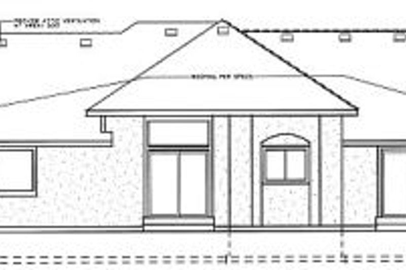 European Exterior - Rear Elevation Plan #92-113 - Houseplans.com