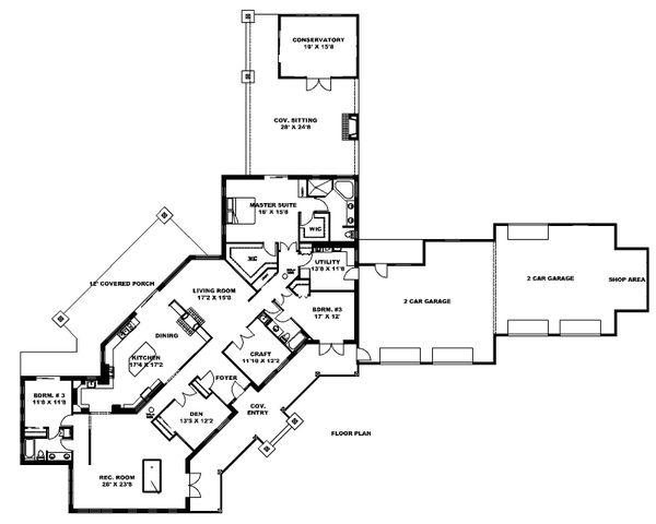 House Plan Design - Ranch Floor Plan - Main Floor Plan #117-888
