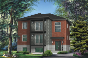 Contemporary Exterior - Front Elevation Plan #25-4381