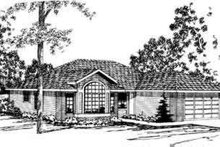 Modern Exterior - Front Elevation Plan #124-262