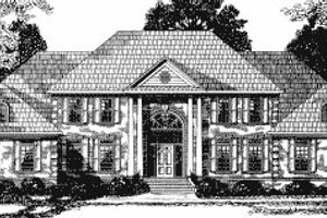 Southern Exterior - Front Elevation Plan #20-1177