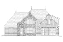 European Exterior - Front Elevation Plan #932-29