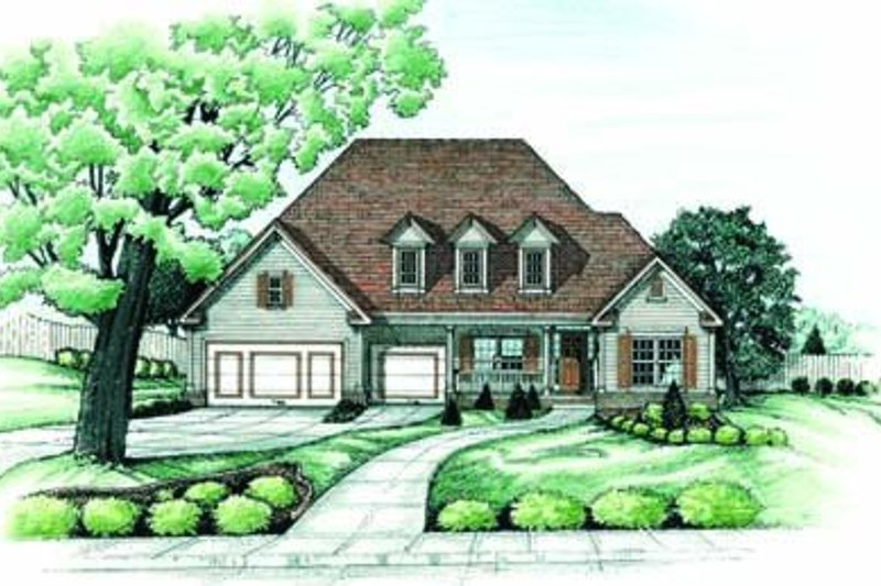 Traditional Exterior - Front Elevation Plan #20-910 - Houseplans.com