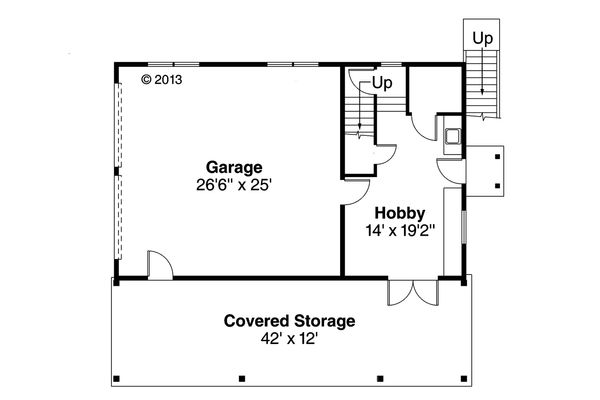 Craftsman Floor Plan - Main Floor Plan Plan #124-1142