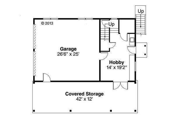 Craftsman Floor Plan - Main Floor Plan #124-1142