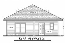House Design - Traditional Exterior - Rear Elevation Plan #20-2341