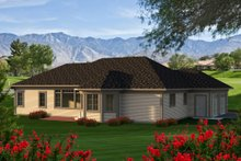 Home Plan Design - Ranch Exterior - Rear Elevation Plan #70-1166