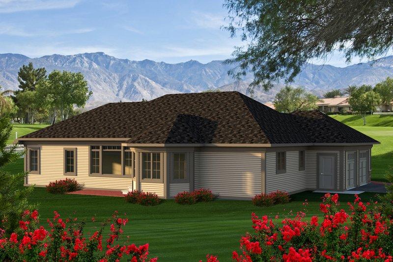 Ranch Exterior - Rear Elevation Plan #70-1166 - Houseplans.com