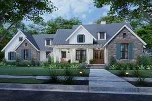 Dream House Plan - Farmhouse Exterior - Front Elevation Plan #120-270