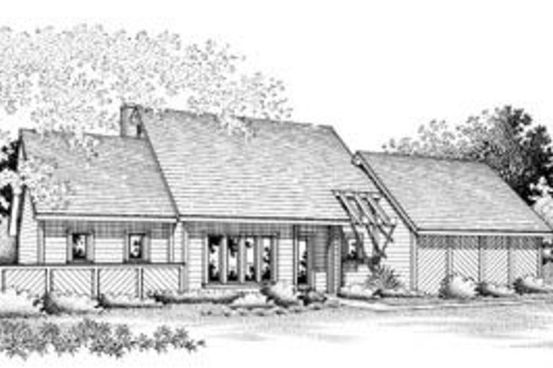 Contemporary Exterior - Front Elevation Plan #45-184