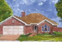 European Exterior - Front Elevation Plan #410-258