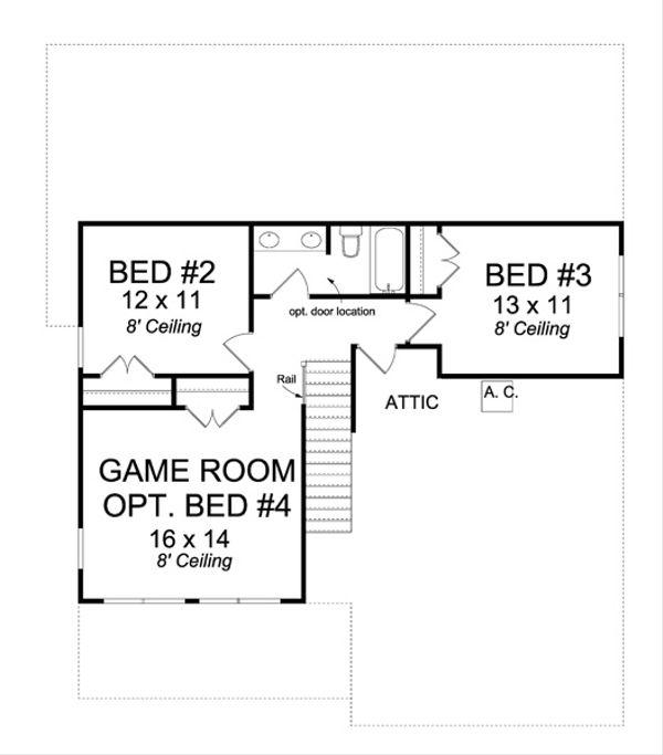 Cottage Floor Plan - Upper Floor Plan Plan #513-2063