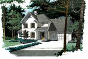 European Style House Plan - 4 Beds 2.5 Baths 2333 Sq/Ft Plan #56-179 Exterior - Front Elevation