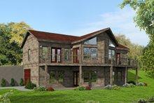 Dream House Plan - Adobe / Southwestern Exterior - Rear Elevation Plan #932-119