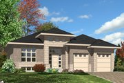 Modern Style House Plan - 2 Beds 2 Baths 1470 Sq/Ft Plan #138-374 Exterior - Front Elevation