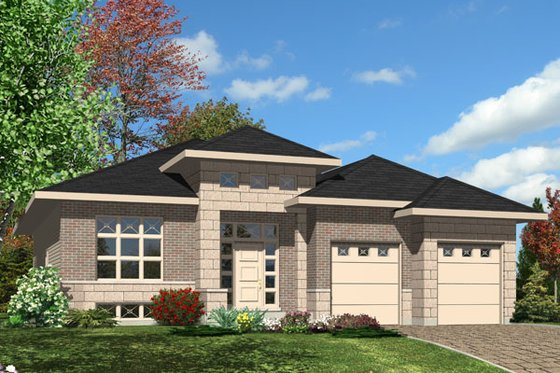 Modern Exterior - Front Elevation Plan #138-374